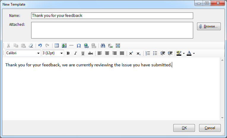 Outlook Canned Responder Screenshot 2