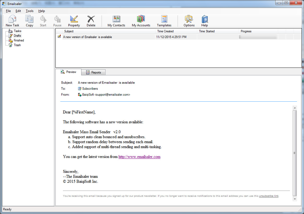 Download Emailsaler Bulk Email Sender 2 5 1212