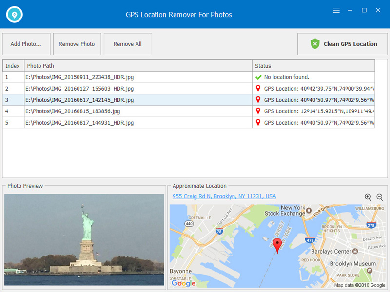 GPS Location Remover For Photos Screenshot 1