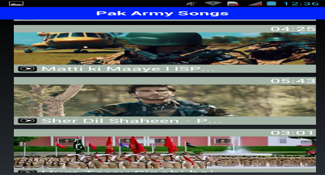 Pak Army Songs Screenshot