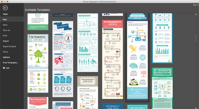 Download Edraw Infographic 8.6