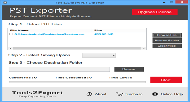 PST Exporter, v1.0 Screenshot