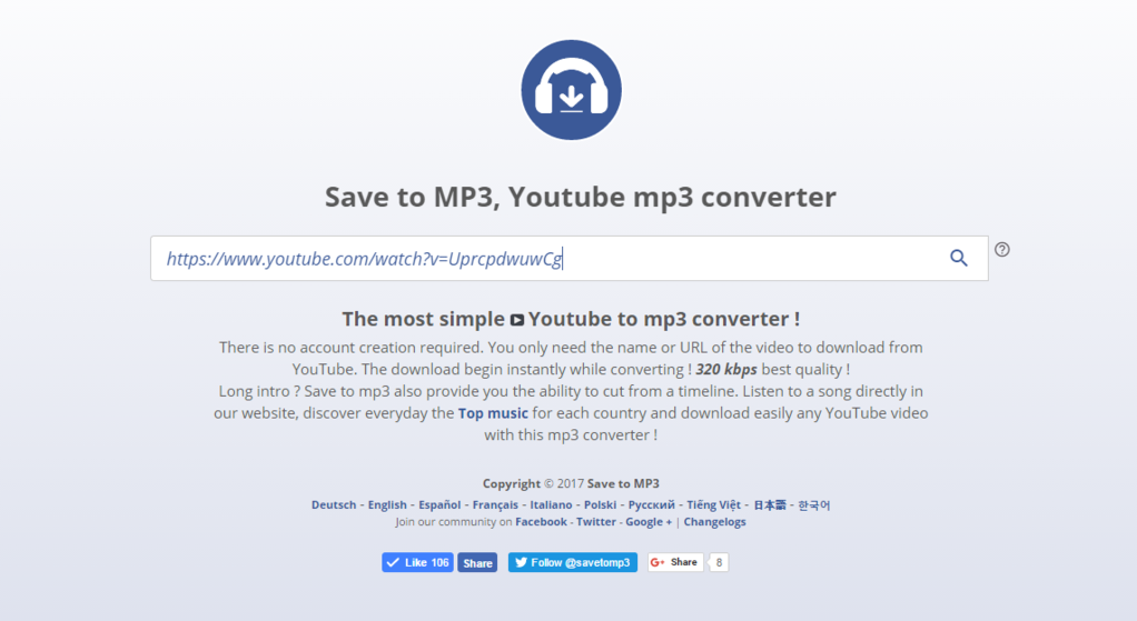 Save to mp3 Screenshot