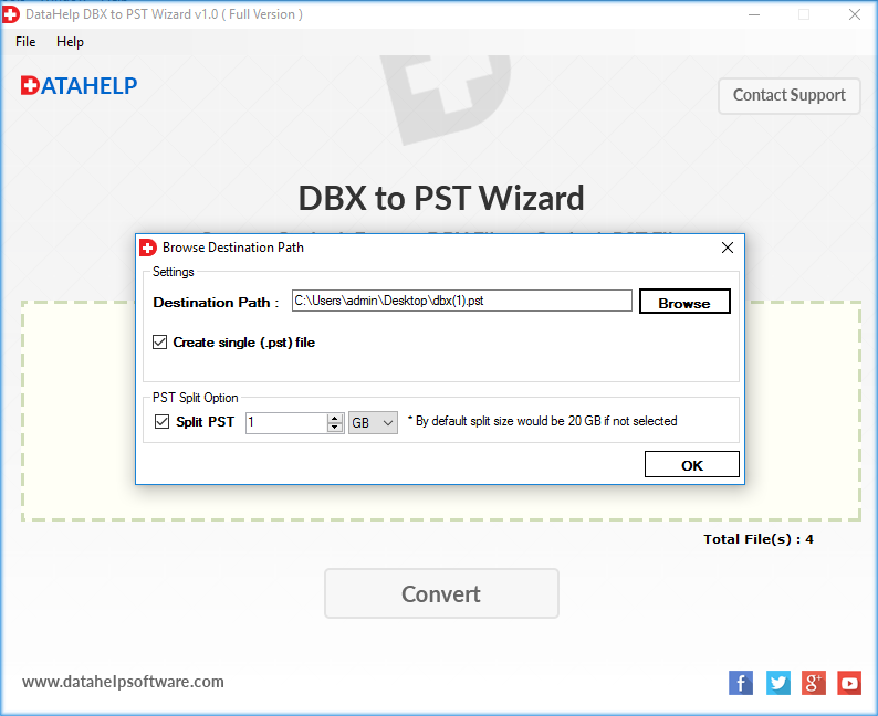 DBX to PST Converter Screenshot 4