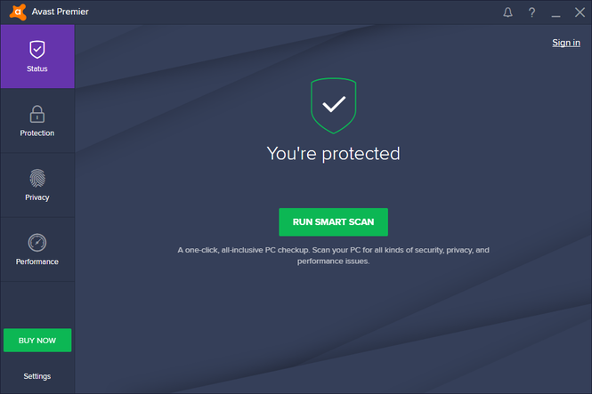 Avast Premier 2017 Screenshot 1