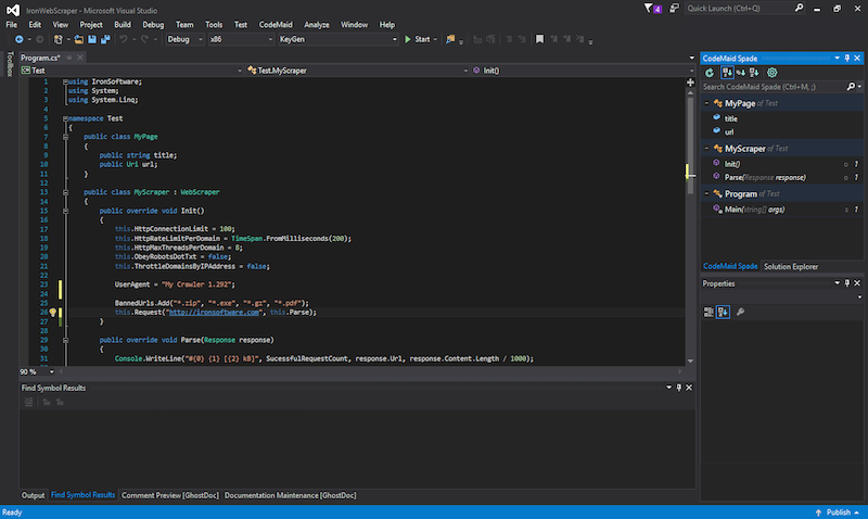 C# Web Scraping Library Screenshot 1