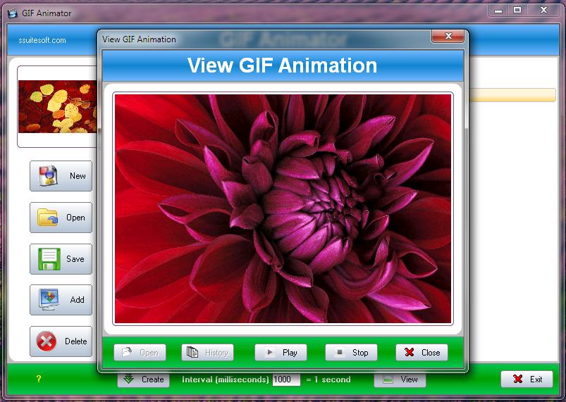 SSuite Office Gif Animator Screenshot