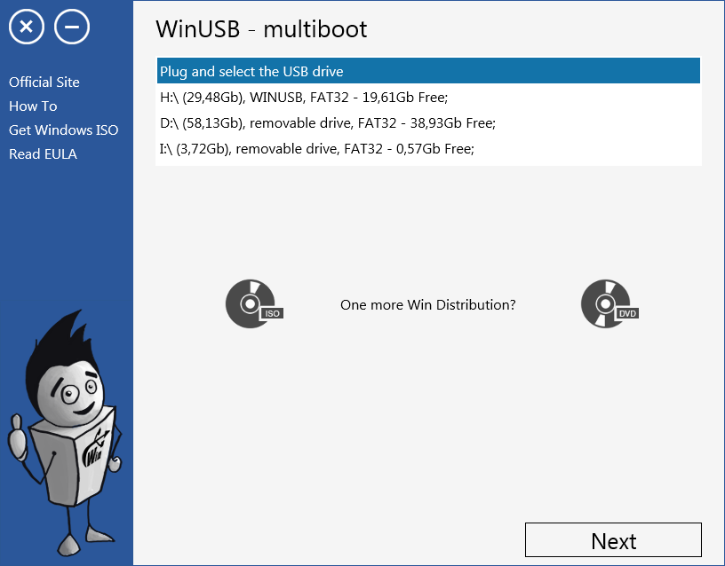 WinUSB - multiboot Screenshot