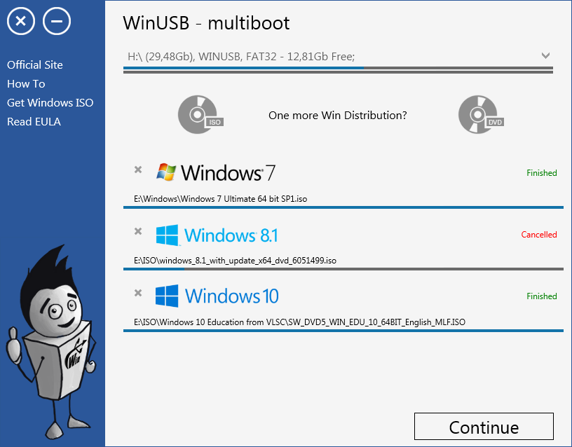 WinUSB - multiboot Screenshot 4