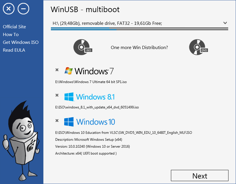 WinUSB - multiboot Screenshot 2
