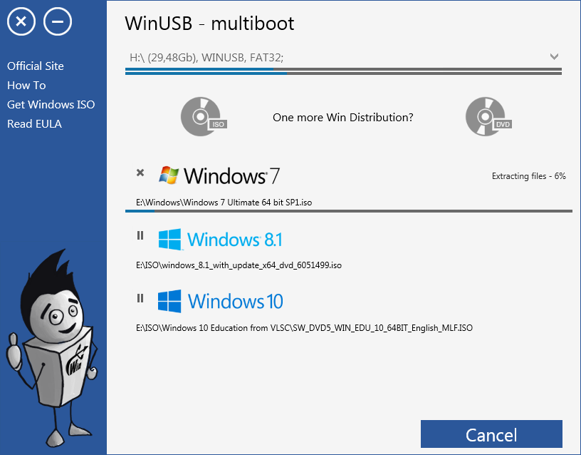 WinUSB - multiboot Screenshot 3
