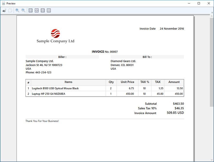 Simple Invoice Screenshot 5