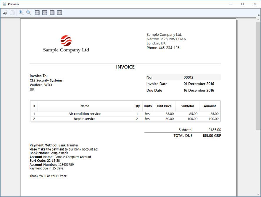 Simple Invoice Screenshot 6