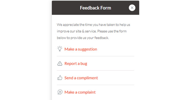 Feedback Form Script Screenshot