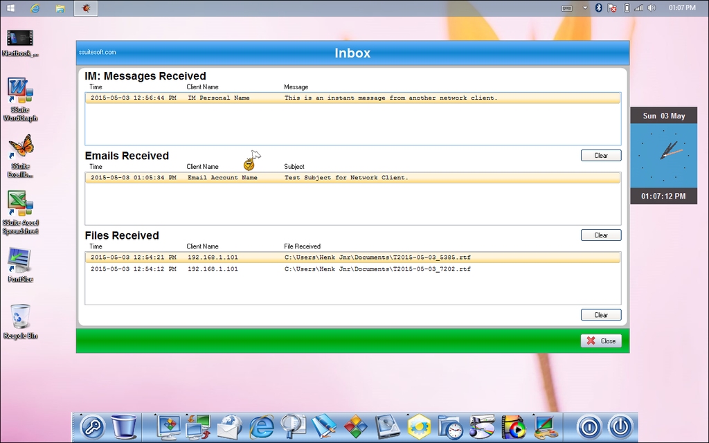 SSuite NetVine LAN Suite Screenshot