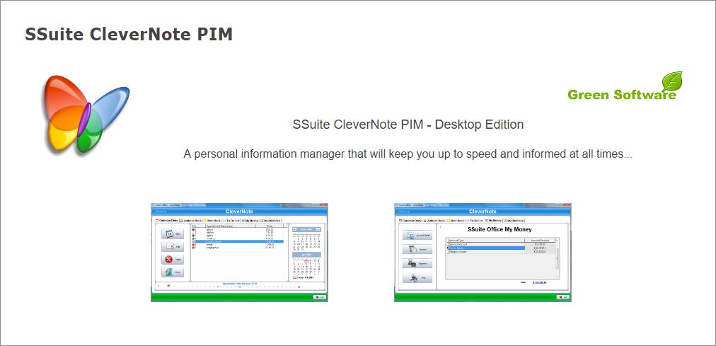 SSuite CleverNote PIM Screenshot 4