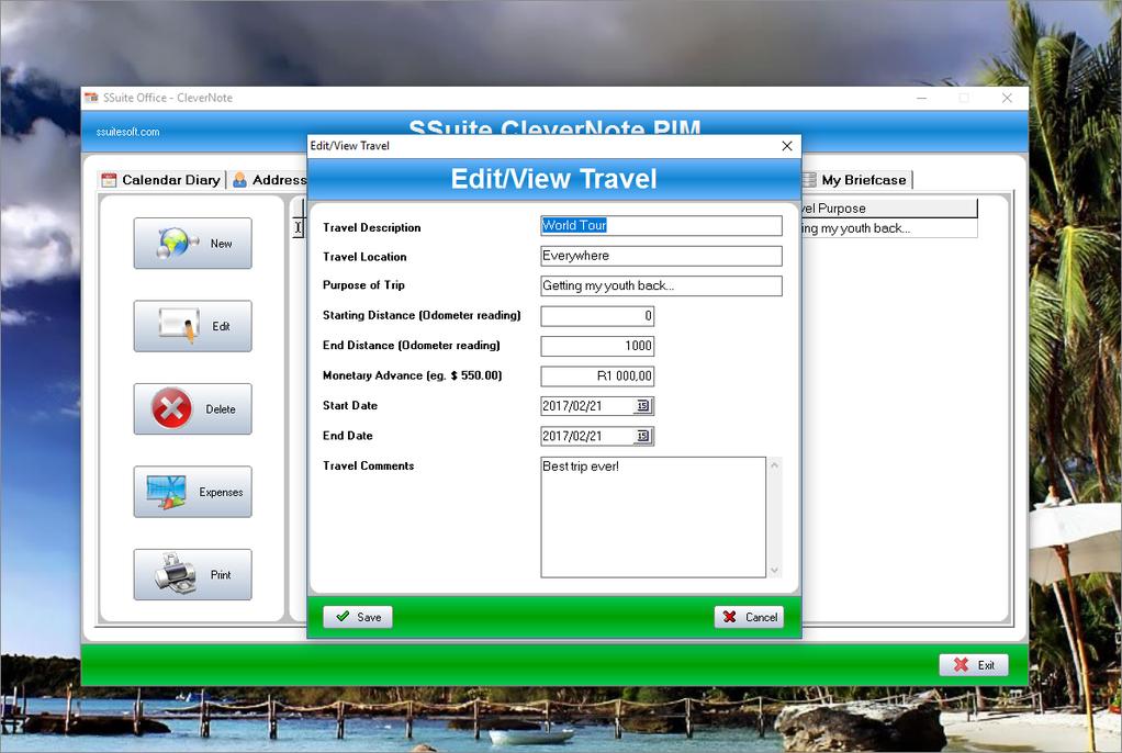 SSuite CleverNote PIM Screenshot 3