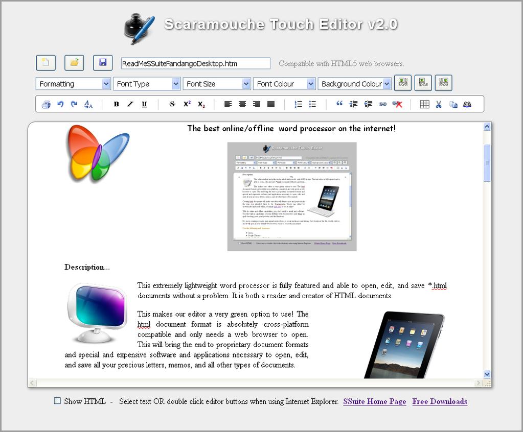 SSuite Online Office Screenshot 3