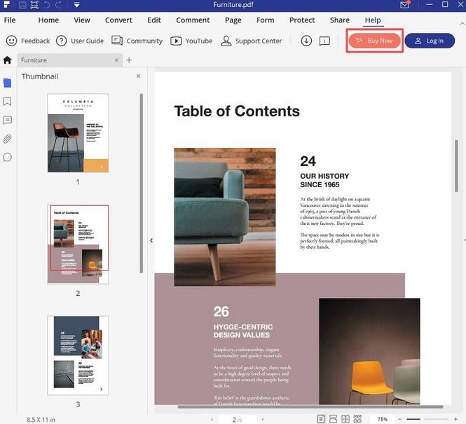 Wondershare PDFelement for Windows Screenshot
