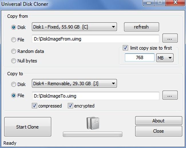 Universal Disk Cloner Screenshot