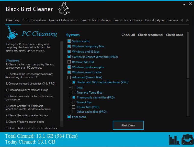 Black Bird Cleaner Screenshot 3