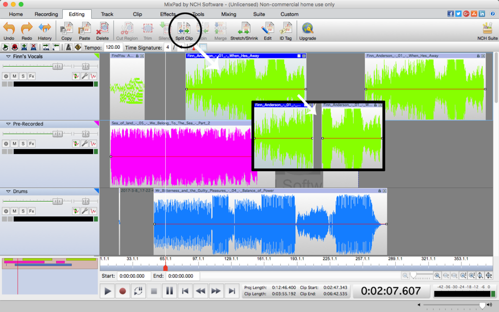 MixPad Free Music Mixer and Studio Recorder Screenshot 2