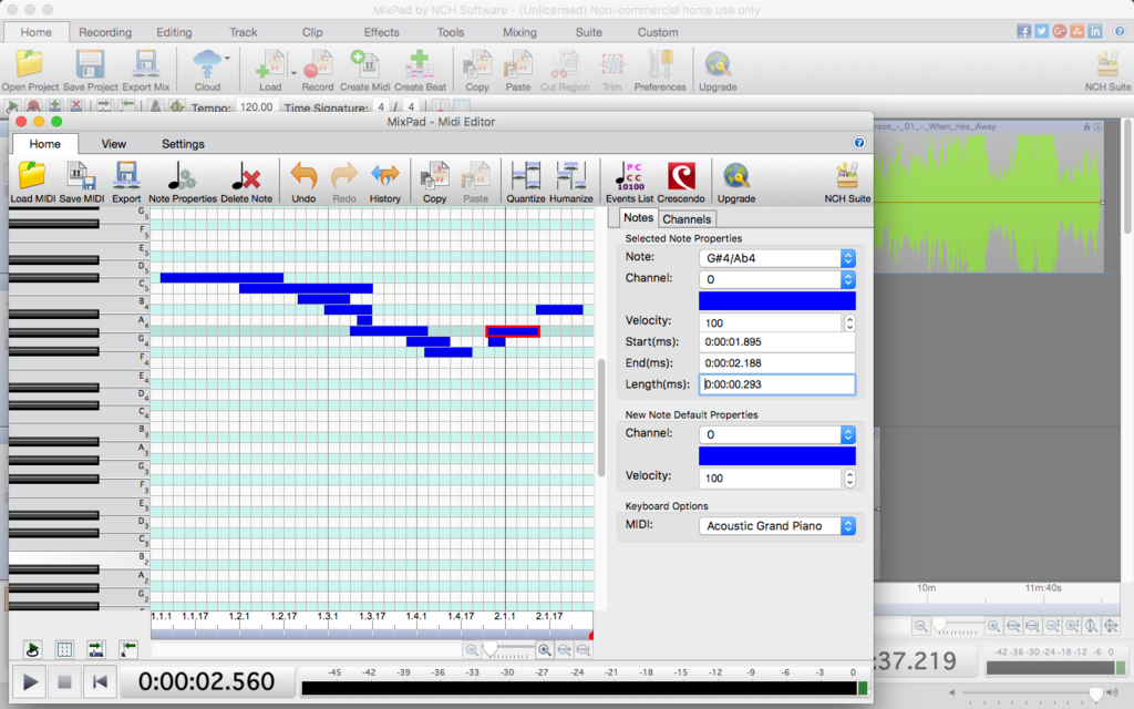 MixPad Free Music Mixer and Studio Recorder Screenshot 4