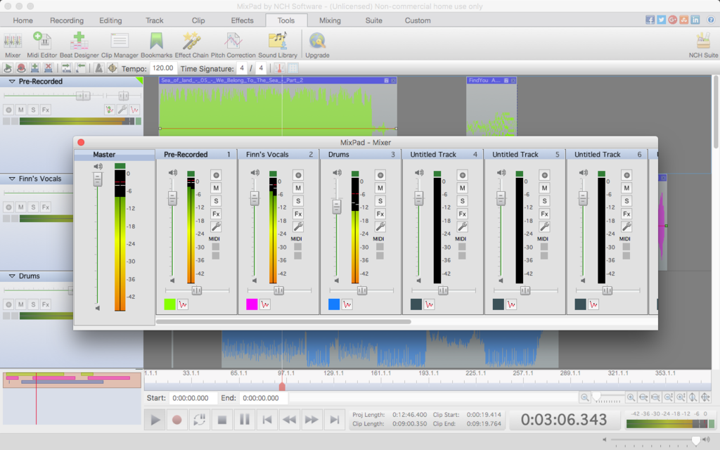 MixPad Free Music Mixer and Studio Recorder Screenshot 7