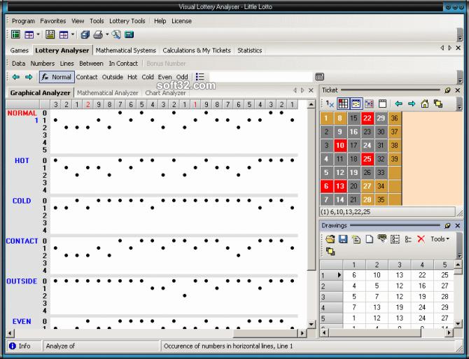 Visual Lottery Analyser Screenshot 2