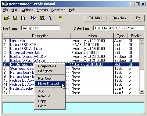 Event Manager Professional Screenshot 1