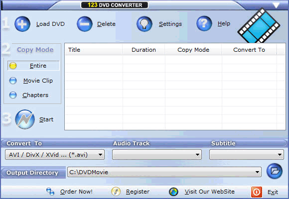 Airy DVD Converter Screenshot 1