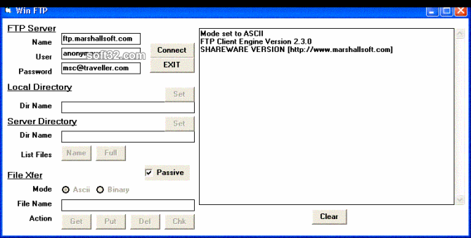 FTP Client Engine for Visual dBase Screenshot 2