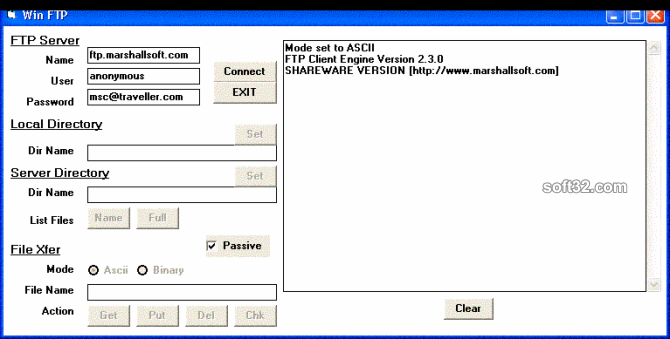 FTP Client Engine for PowerBASIC Screenshot 2