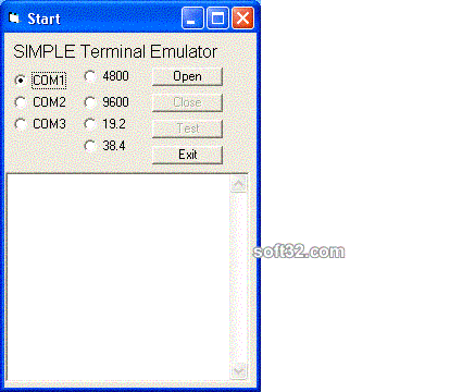 Windows Std Serial Comm Lib for C/C++ Screenshot 3