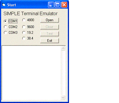 Windows Std Serial Comm Lib for Visual Basic Screenshot