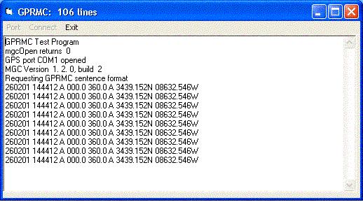 MarshallSoft GPS Component for VB Screenshot 1