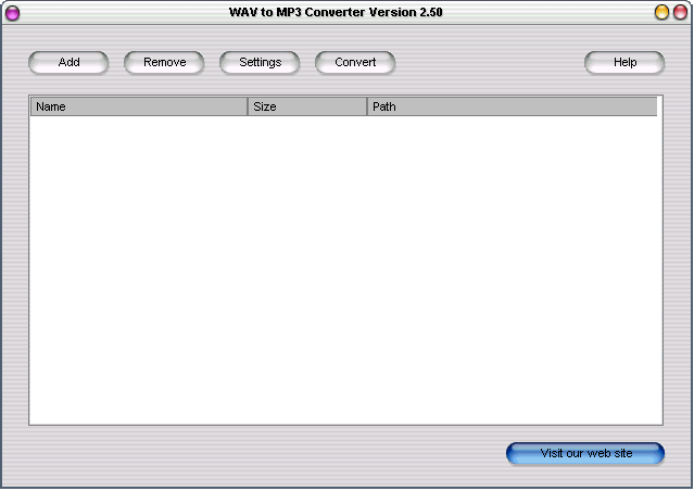 WAV to MP3 Converter Screenshot