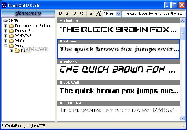 FontsOnCD Screenshot 3