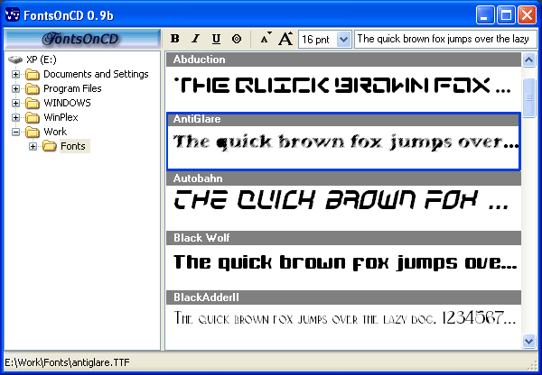 FontsOnCD Screenshot