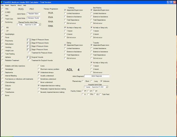 FutuRUG Medicare Intake Screenshot