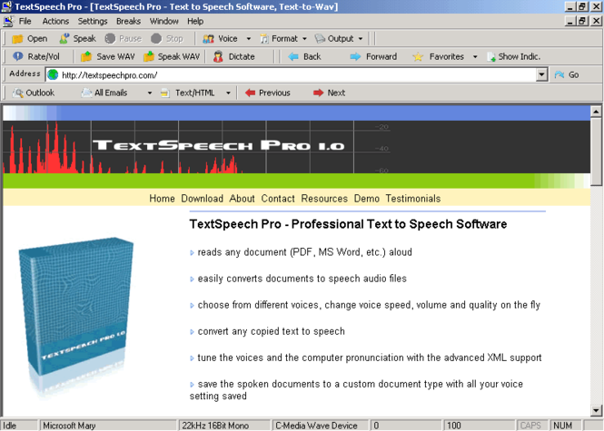TextSpeech Pro Ultimate Screenshot
