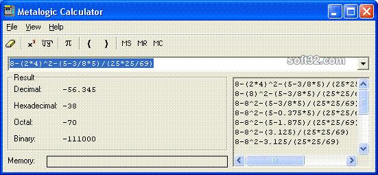 Metalogic Calculator Screenshot 3