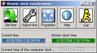 Atomic Clock Synchronizer Screenshot