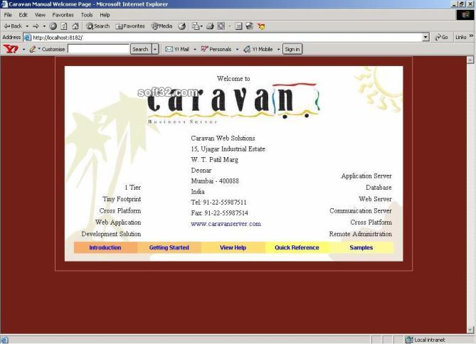 Caravan Business Server for Microsoft Screenshot 3