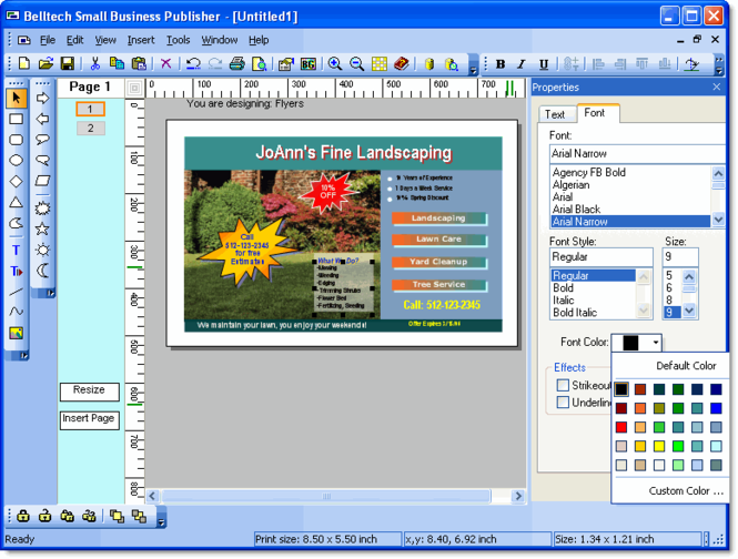 Belltech Small Business Publisher Screenshot 1