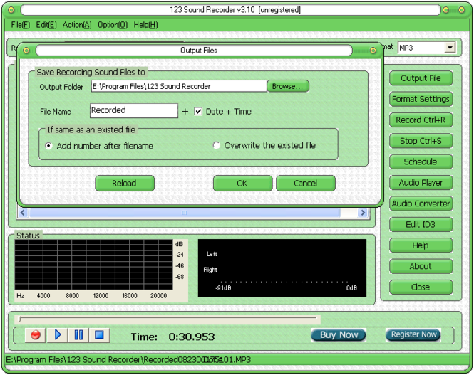 123 Sound Recorder Screenshot