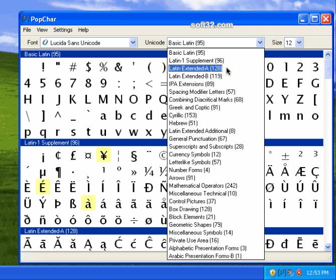 PopChar Win Screenshot 2