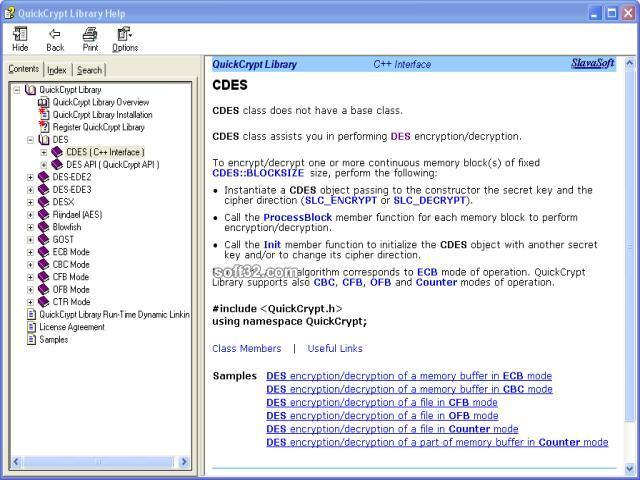 QuickCrypt Library Screenshot