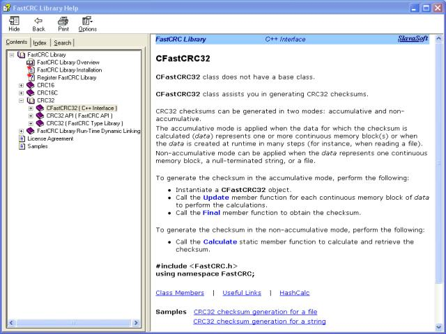 FastCRC Library Screenshot 2