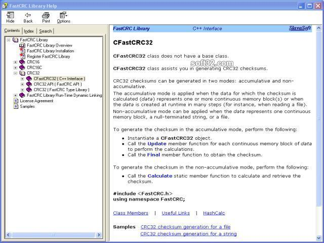 FastCRC Library Screenshot 3